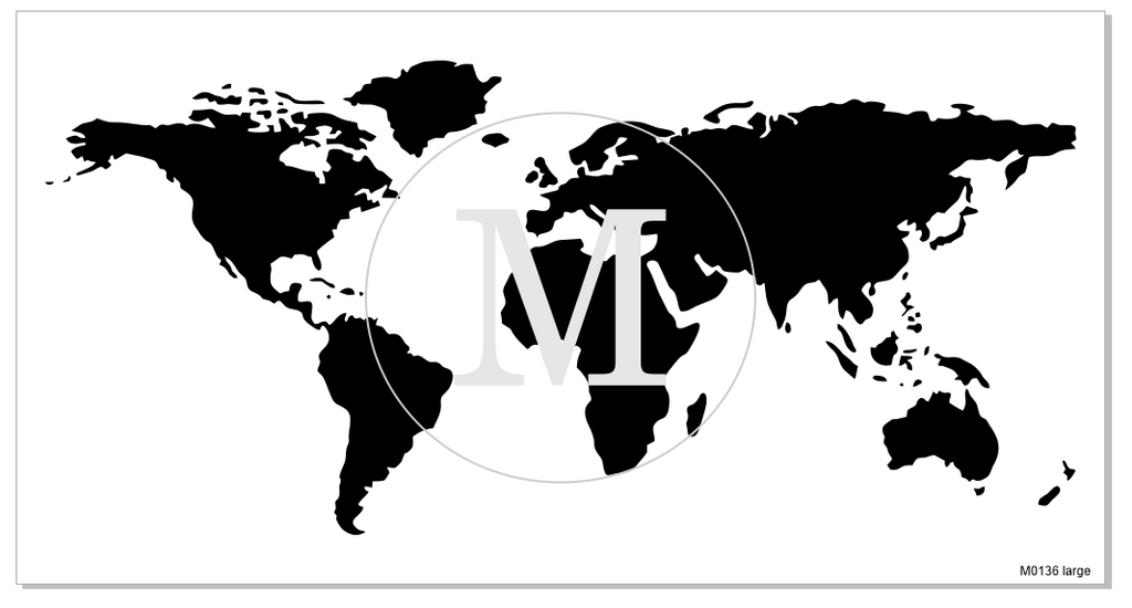 M0136 World Map