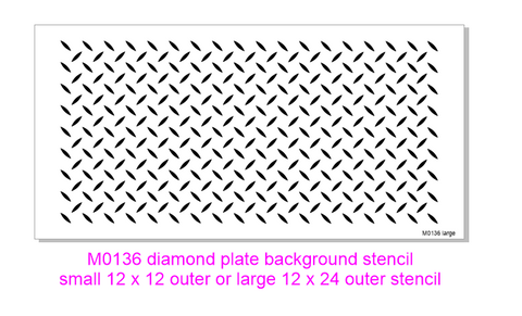 M0138 Diamond Plate Background stencil