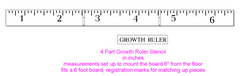 M0139 4 part Growth Ruler Stencil