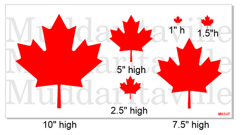 M0147 Maple Leafs various sizes