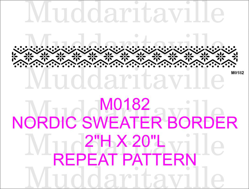 M0182 Nordic Sweater Border (dots)