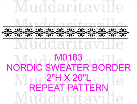 M0183 Nordic Sweater Border