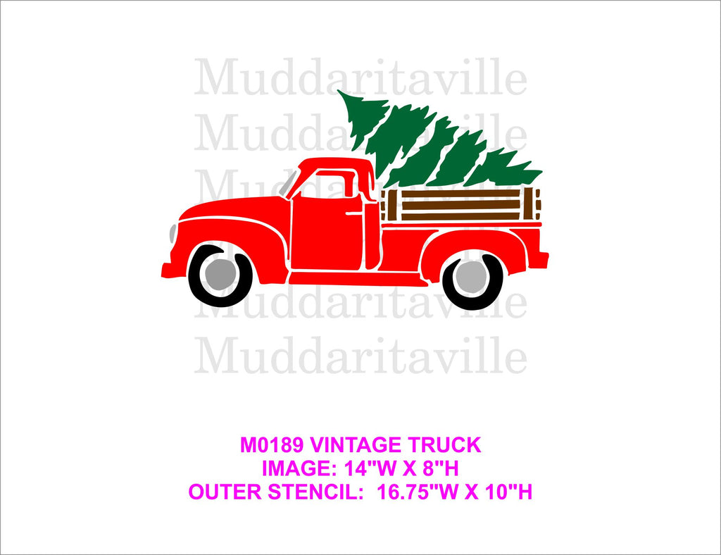 M0189 VINTAGE TRUCK with Tree