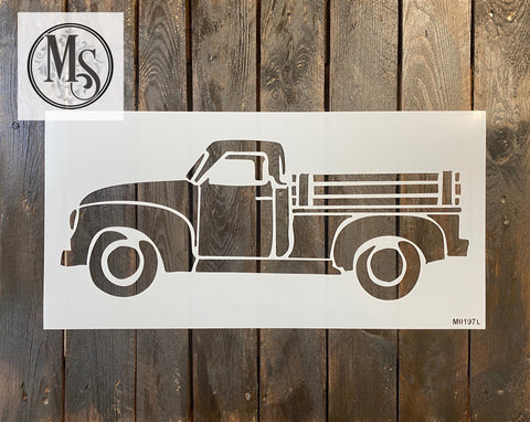 M0197 Vintage Truck (no tree) - 3 sizes available