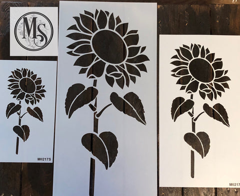 M0217 Sunflower #2 with stem - 3 sizes