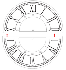 M0221 Clock with border and seconds - 2 sizes