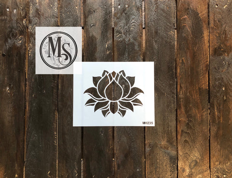 M0235 Simple Lotus Flower - small