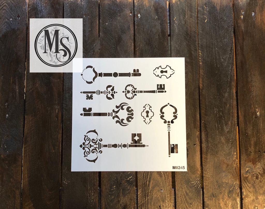 M0245 Vintage Skeleton Key Stencil