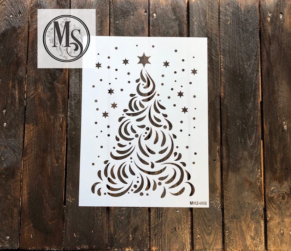 M0248B Decorative Christmas Tree with snow