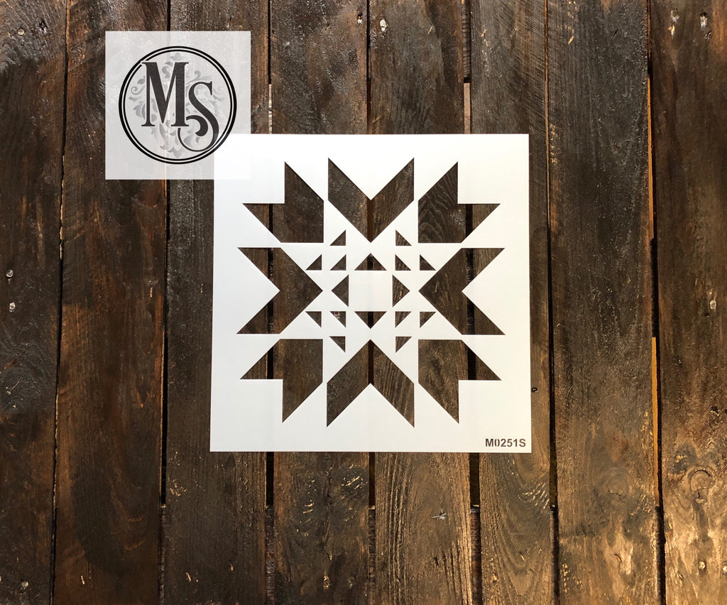 M0251 Quilt Stencil - available in 3 sizes