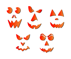 M0273 Jack-o-Lantern Faces - available in 2 size options