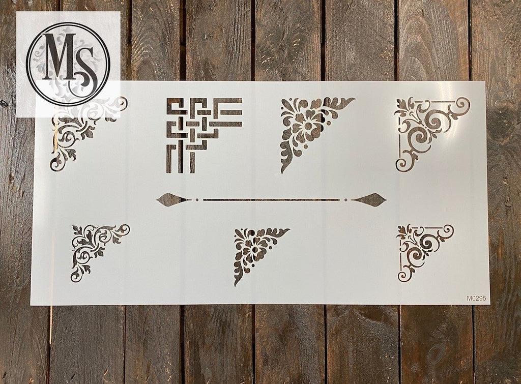 M0295 Decorative Corner Stencil