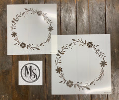 M0306 FLORAL AND LEAF WREATH