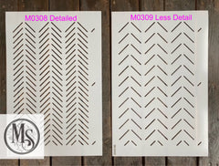 M0309 Herringbone Pattern - 3 sizes - LESS detailed version