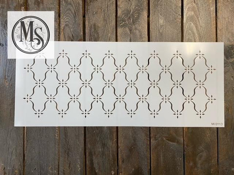 M0311 Curvy Lattice Drawer Stencil