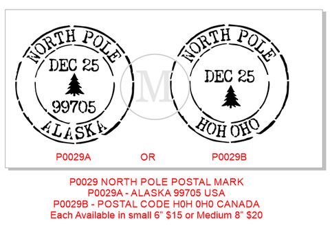 P0029 North Pole Postal Marks