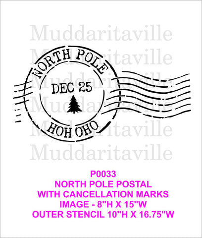 P0033 North Pole H0H 0H0 postal with cancellation marks