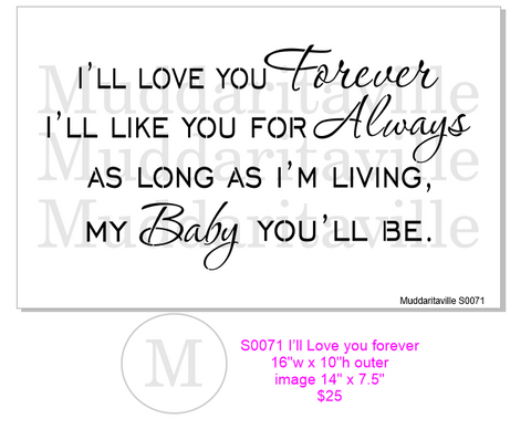 S0071 I'll love you forever