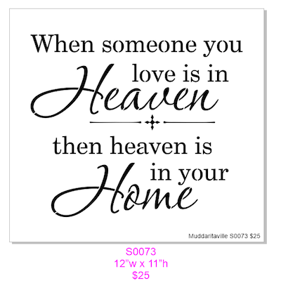 S0073 When someone you love is in heaven