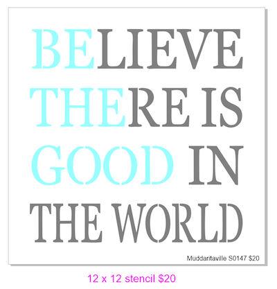 S0147 Believe there is good