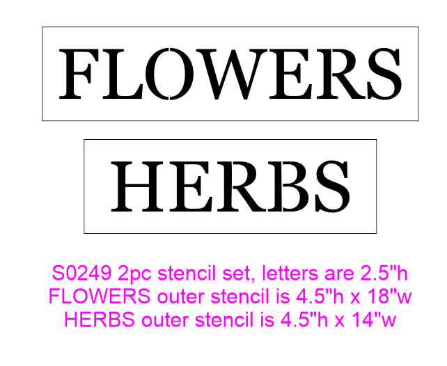 S0249 Flowers & Herbs, 2 piece Stencil set