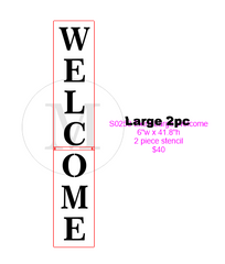 S0253 Welcome Stacked - available in 3 sizes
