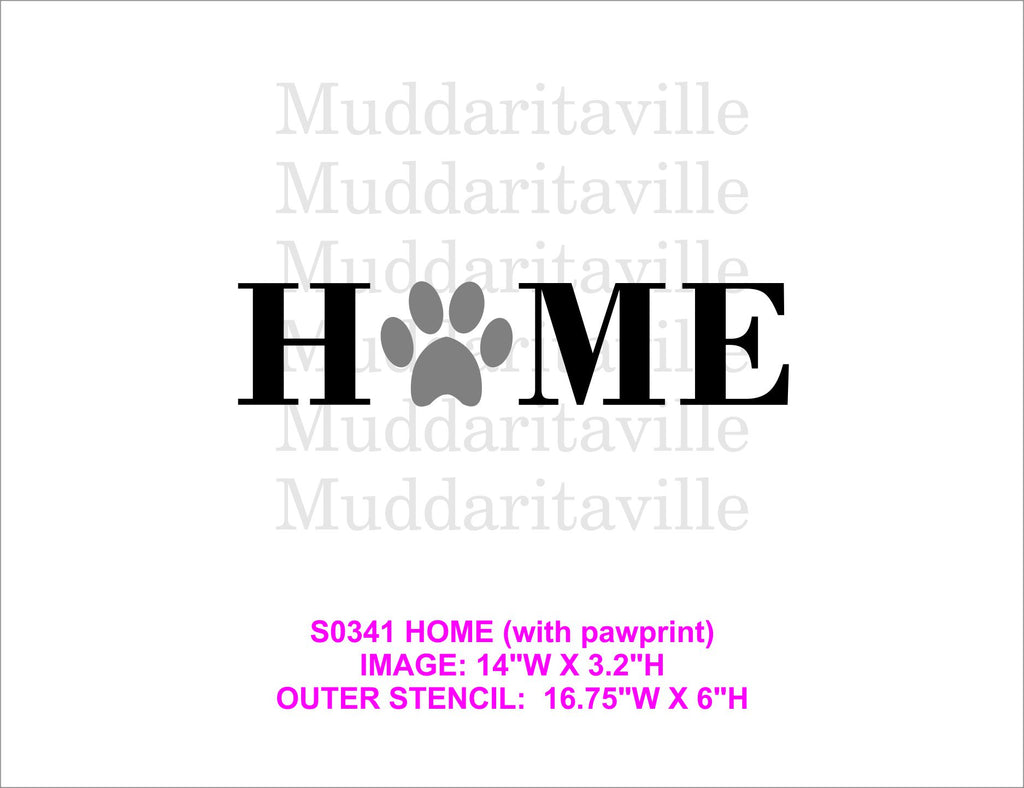 S0341 Home (with paw print)