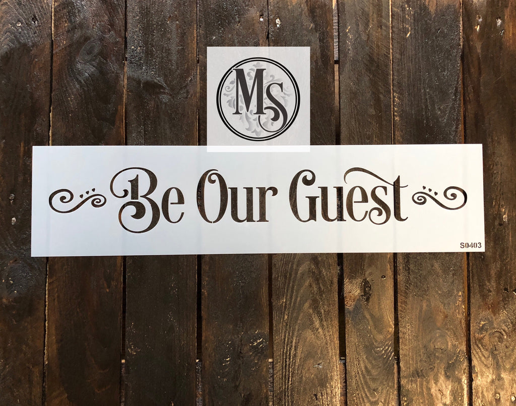 S0403 be our guest - block font