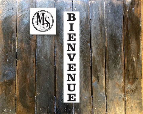 S0411 Bienvenue ,Vertical Sign - 2 sizes available
