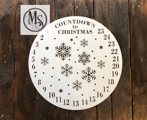 S0418 Countdown to Christmas Advent Clock - 2 sizes available