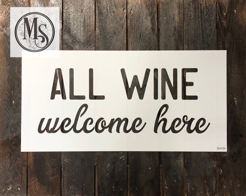 S0439 All Wine welcome here - 2 sizes available