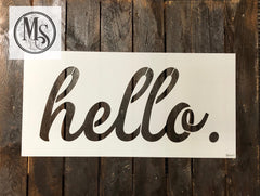 S0441 hello - 2 sizes available