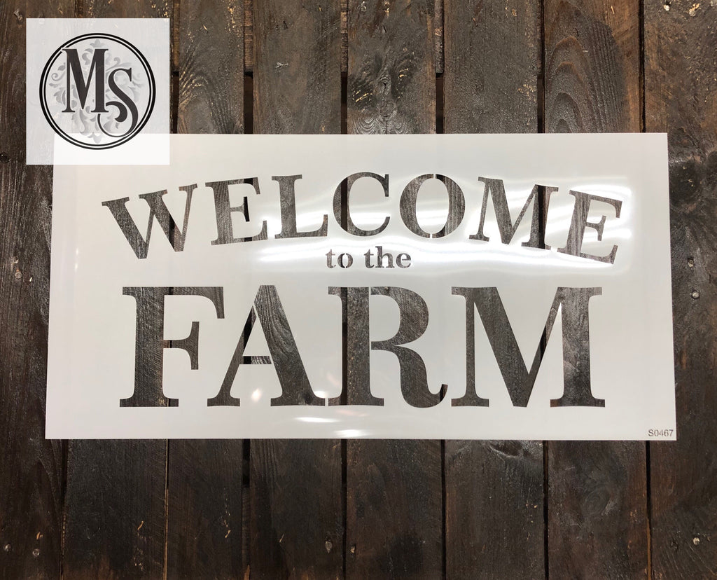 S0467 WELCOME to the Farm - 2 sizes available