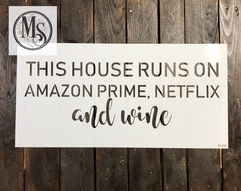 S0492 This home runs on Amazon Prime, Netflix and wine