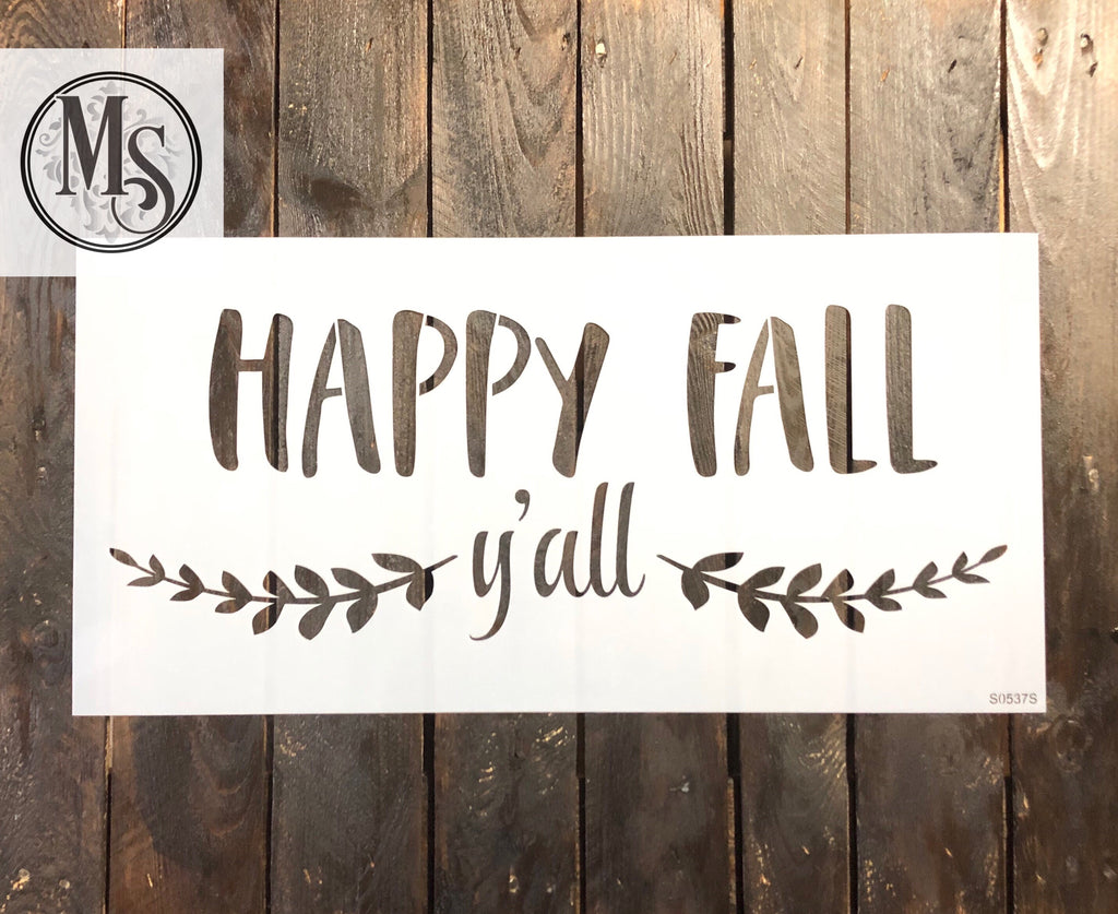 S0537 Happy Fall Y'all - 2 sizes available