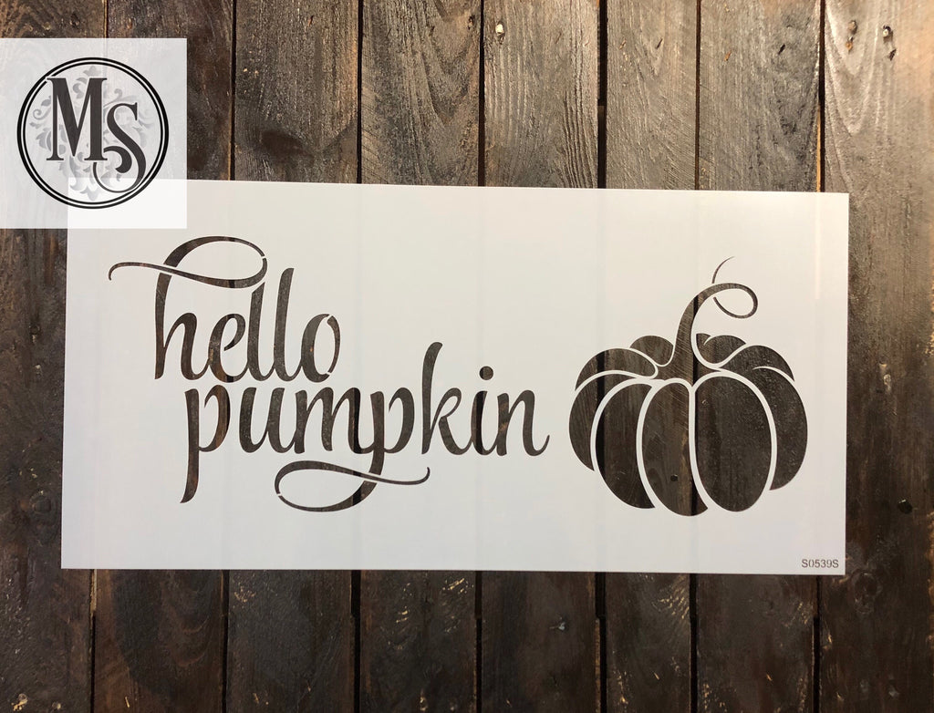 S0539 hello pumpkin - 2 sizes available