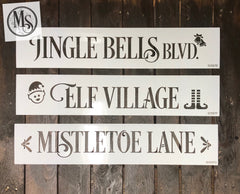 S0557 Christmas Direction/Street signs - 7 different