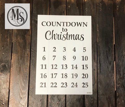 S0563 Countdown to Christmas Advent Calendar