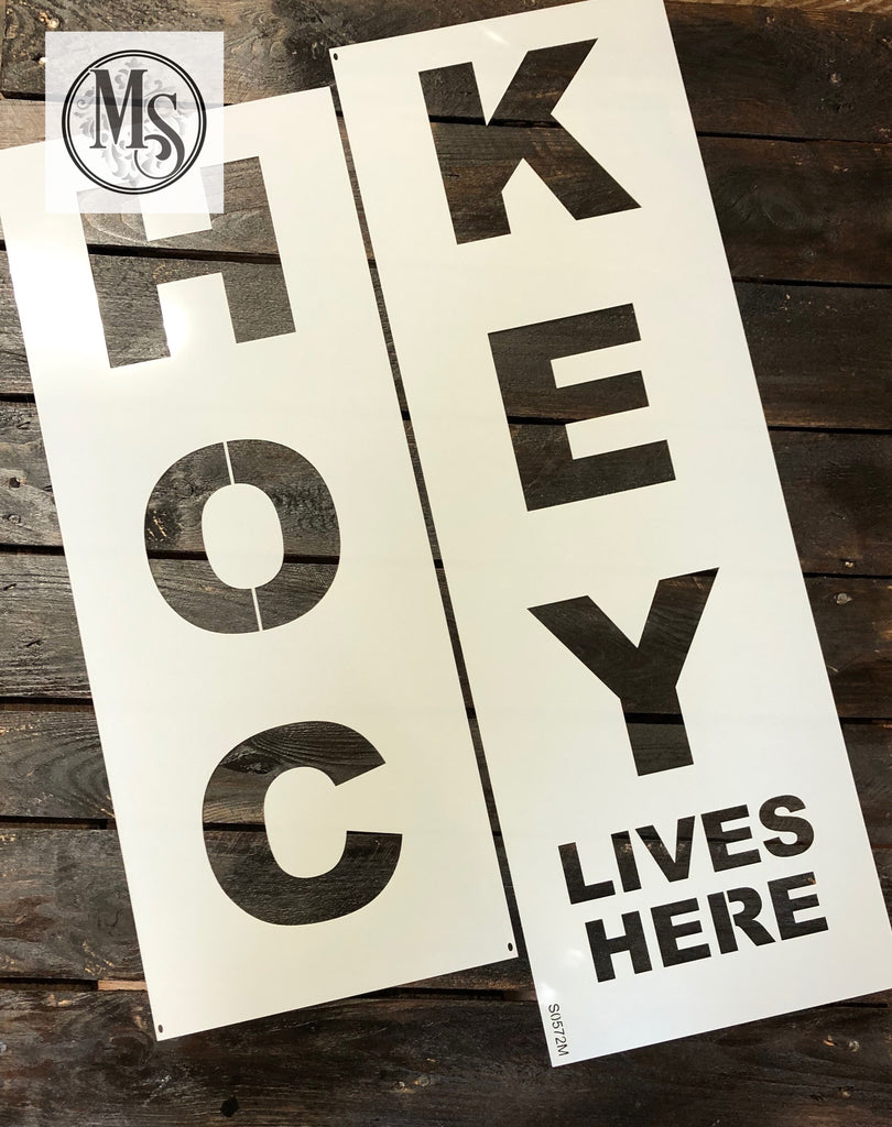 S0572 Hockey Lives Here Vertical Sign - 2 sizes