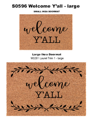 S0596 Welcome Y'all - 3 sizes