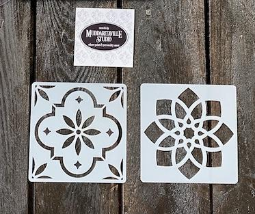 S0618 Coaster Stencil Sets - 2 stencils per set
