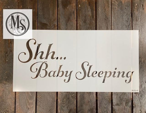 S0624 Shh ... Baby Sleeping - 2 sizes available