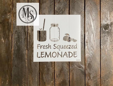 S0633 Freshly Squeezed Lemonade with Mason Jar