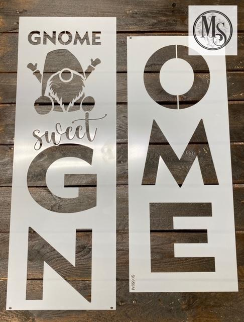 S0659 Gnome Sweet Gnome Vertical Sign - 3 sizes