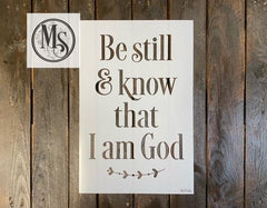 S0702 be still & know that I am god