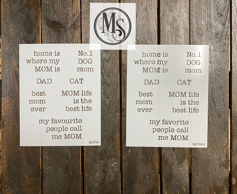 S0704 Book Stack design - Mom/Dad Phrases
