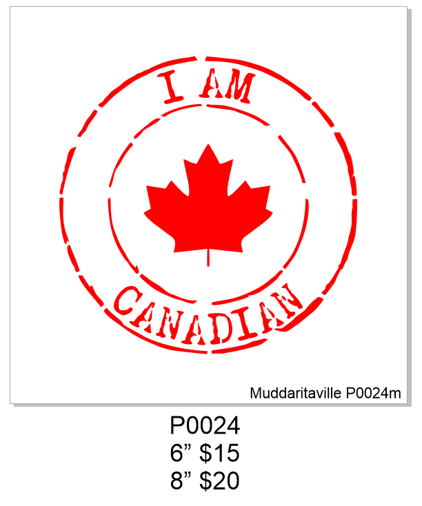 P0024 I am Canadian Postal Mark
