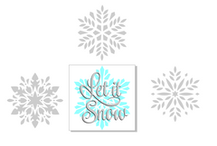 Let It Snow with drop shadow over M0180 Snowflake