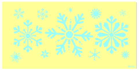 M0132 Large Snowflake stencil * updated artwork Oct 2, 2016