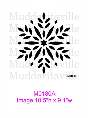 M0180 Snowflake -4 designs to choose from